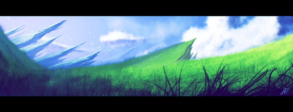 Foreing planet Hill by Zeich