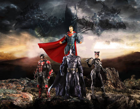 Batman - Robin - Catwoman - Superman Wallpaper