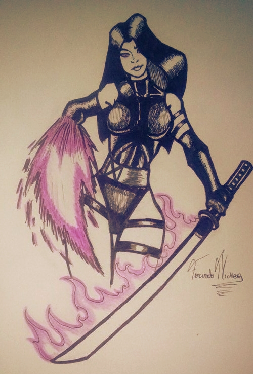 Psylocke by facunichea