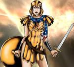 Wonder Woman in Warrior Armor