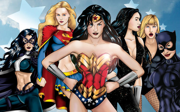 Women of DC Wallpaper by JGiampietro