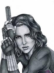 Black Widow Drawing by JGiampietro