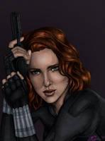Black Widow Colored by JGiampietro