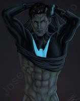 Nightwing Undressed by JGiampietro