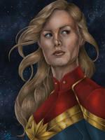 Brie Larson as Captain Marvel by JGiampietro