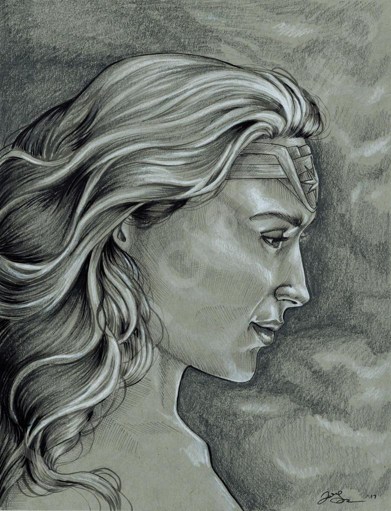 Wonder Woman Portrait by JGiampietro