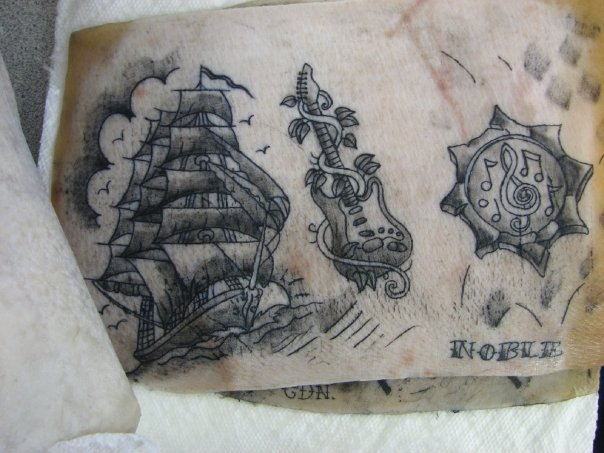 Tattoo images by theresa tyson for Pig skin tattoo