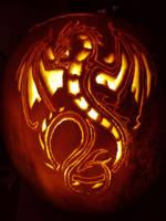 Dragon Pumpkin by flutterbyfae