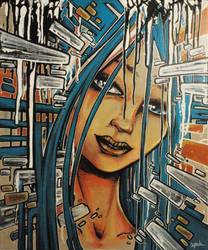 BlueHairz - Canvas by YoulDesign