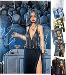 BlueNight 43x62'' canvas