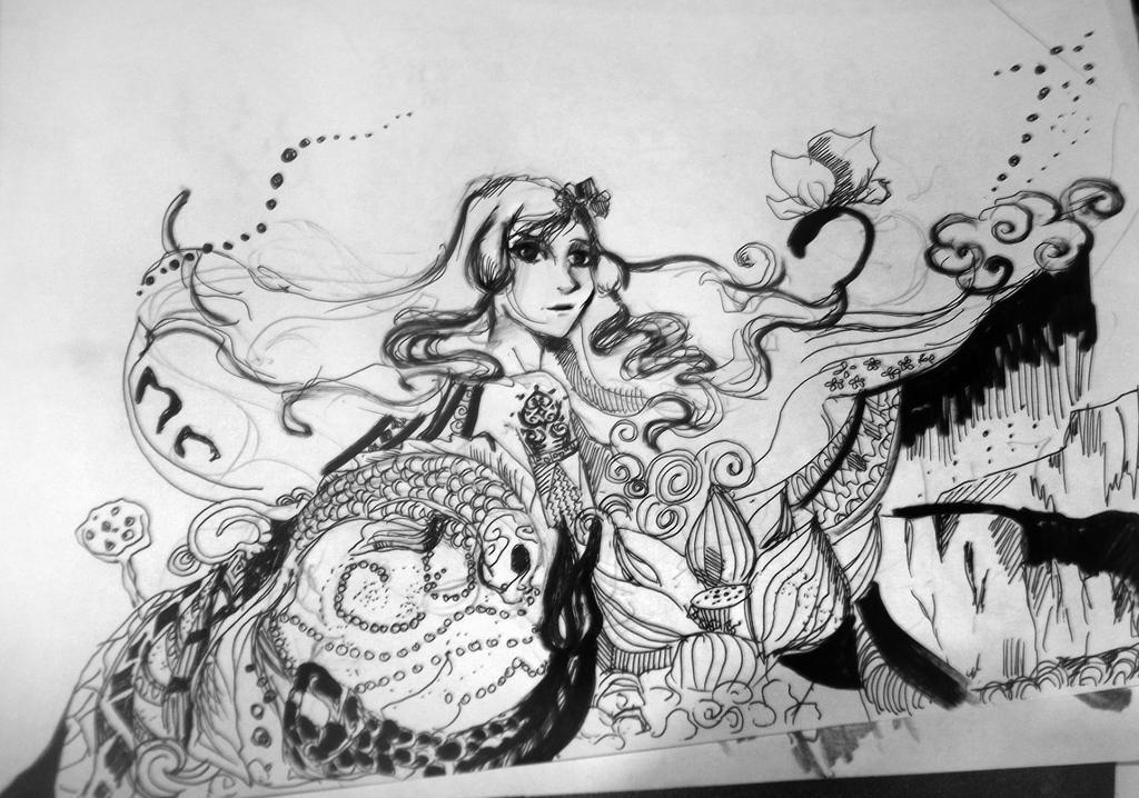 Korra in a spirit world by BlacKate13