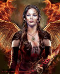 The fiery Katniss by peterg666666