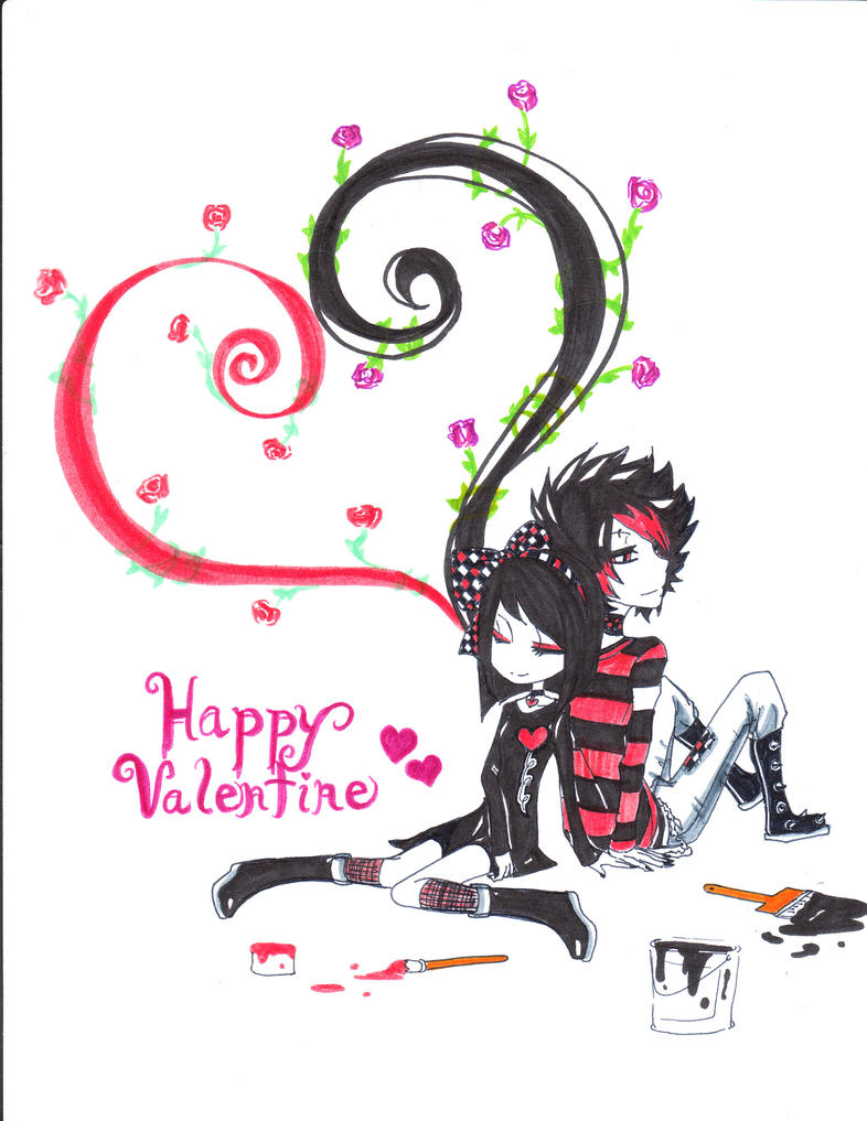 Happy Valentine Day By Kawaii Heart ...