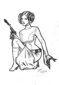 Daily Sketch: Princess Leia 010316