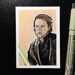 Luke Skywalker Sketch Card