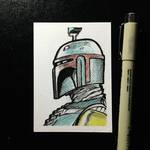 Boba Fett Sketch Card