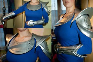 Diana armor work in progress - test fitting by Mashayahana