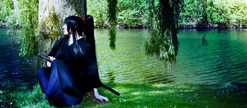 Samurai at rest by Mashayahana