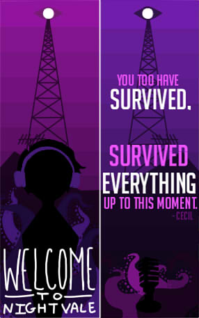 Welcome to nightvale bookmark design by Empty-Frames