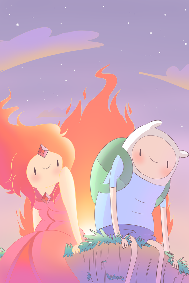 Finn and Flame Princess by Nintenderp23