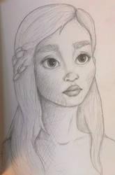 Daenerys Targaryen Disney Style Sketch