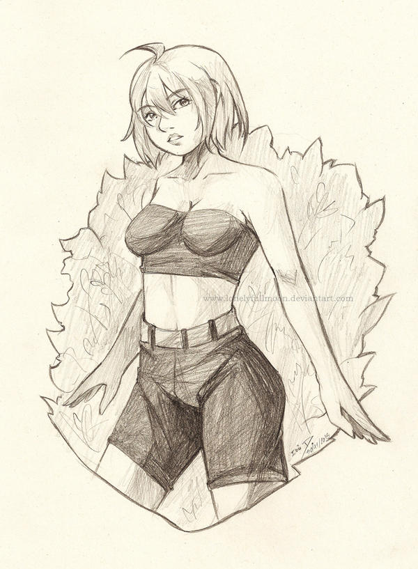 Spade sketch II by LonelyFullMoon