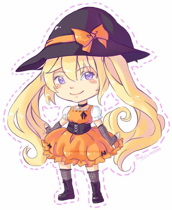 Halloween Chibi by LonelyFullMoon