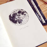 To the Moon - Inktober 6/31