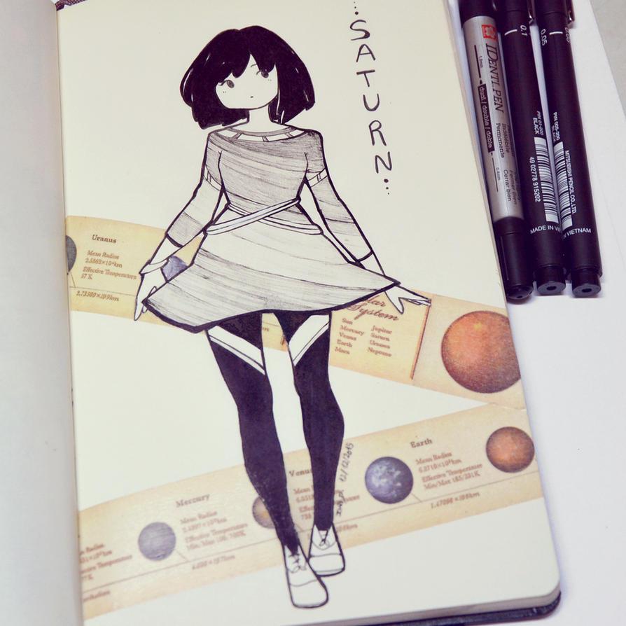 Saturn Dress by LonelyFullMoon