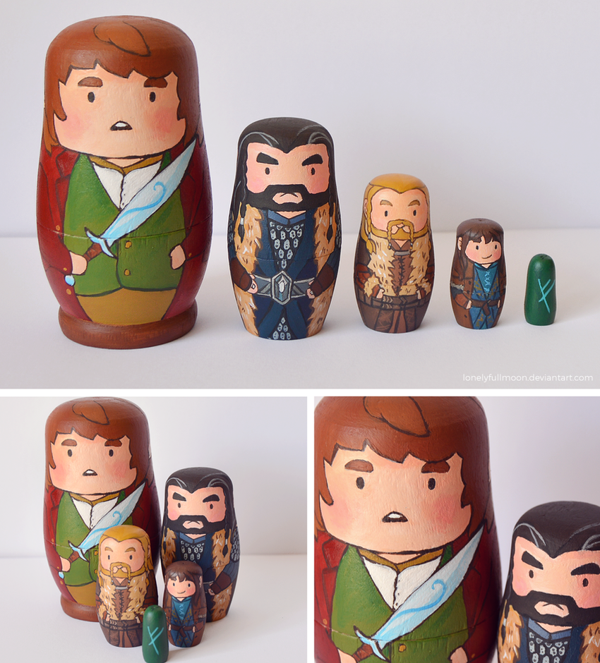 The Hobbit Matryoshka by LonelyFullMoon