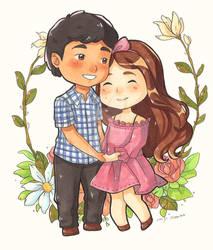 Chibi Couple Commission 02
