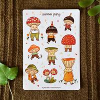 Shroom Party - bujo sticker sheet