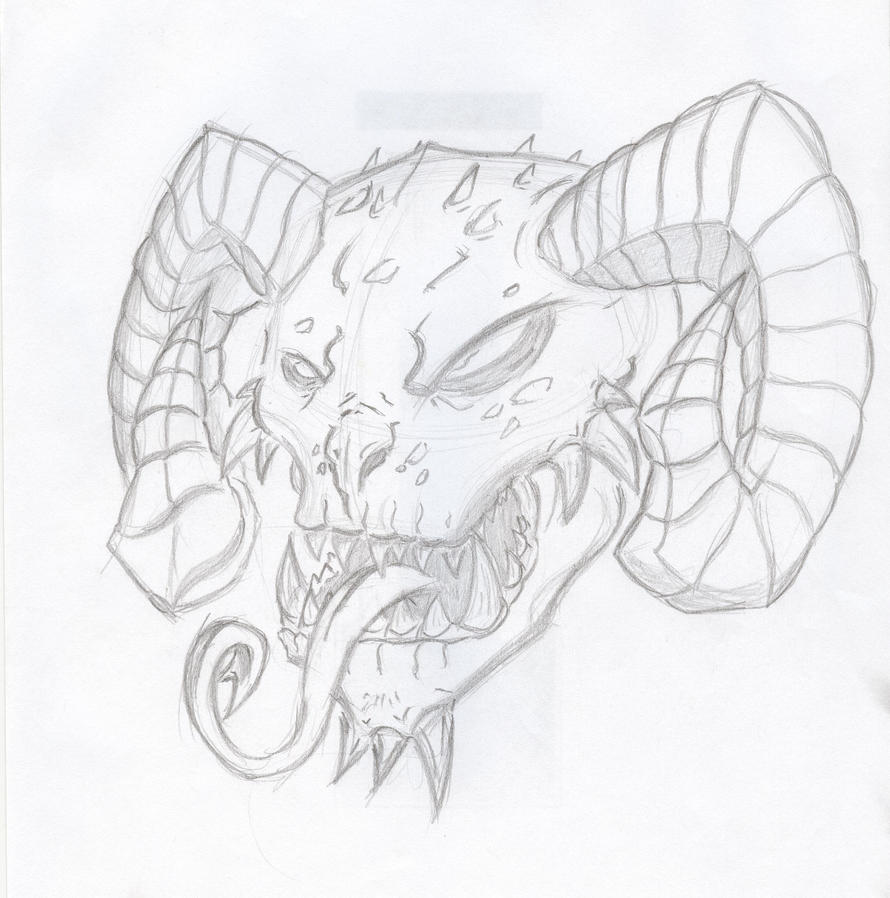 Demon Face By Furokheir On DeviantArt