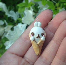 Molang in an icecream cone charm