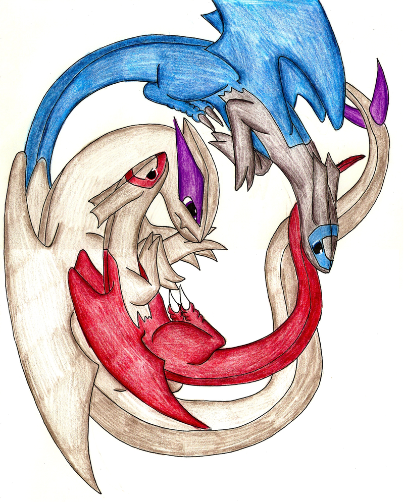 lugia, latias and latios by radiantsilverfire on DeviantArt