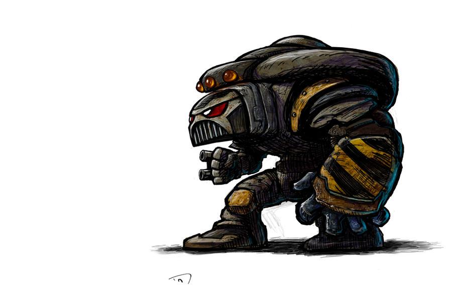 Space Marine Terminator O.G. by thedanimator