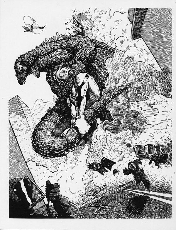 Godzilla VS. Ultraman by thedanimator