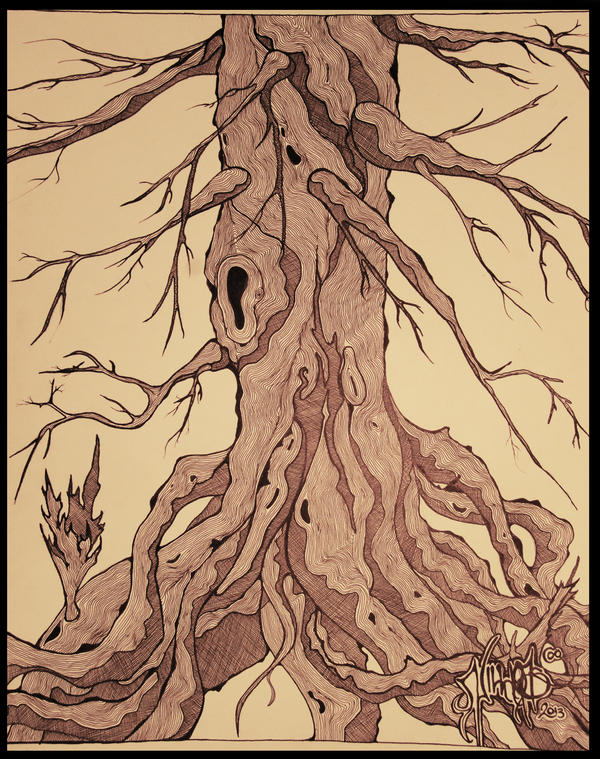 Faces In The Trees by Mindstate-Free