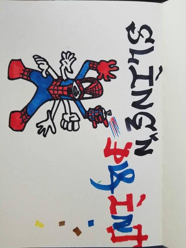 SLING'N PAINT! SPIDEY STYLE! by ReignPatientZeroX