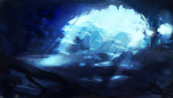 blue cave by syarul