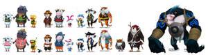 kung fu characters set