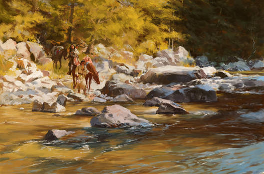 Painting studies, Terpning - Source of All Life
