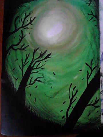 Dark Green forrest by ShadStardust