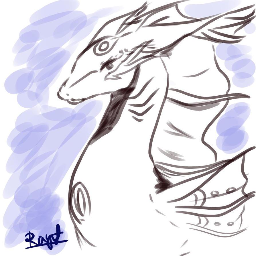 Sappheiros Dragon form by Raynef