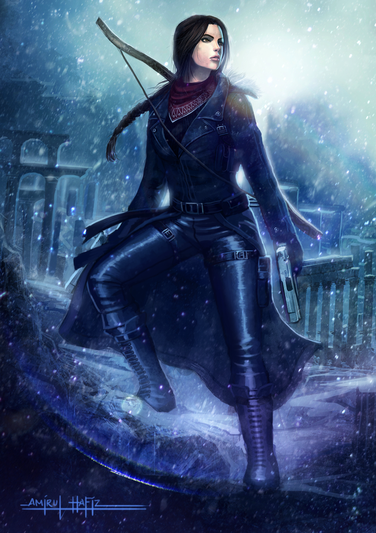 LARA CROFT THE SNOW QUEEN by amirulhafiz