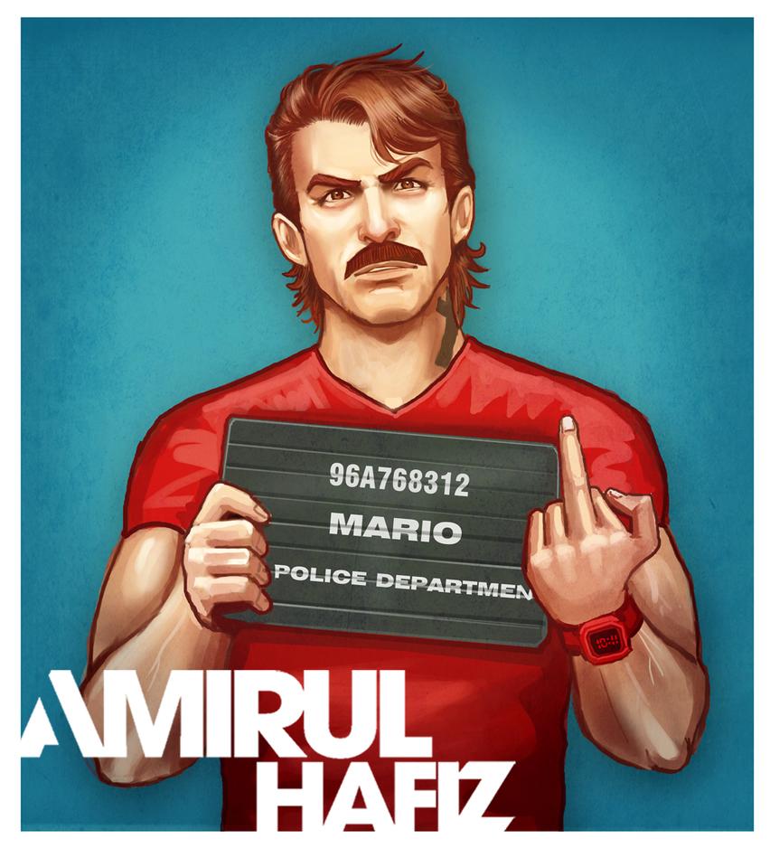 MARIO MUGSHOT by amirulhafiz