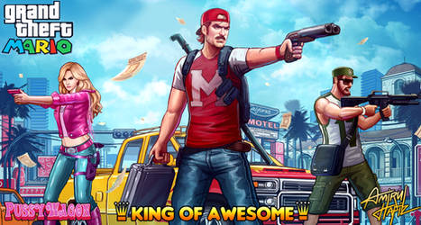 MARIO KING OF AWESOME by amirulhafiz