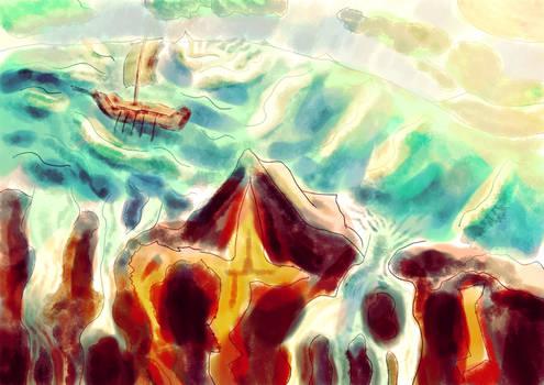 Sailing to the edge of the world III - Speedpaint