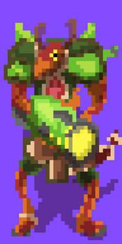Drogoz The Greedy - (Paladins fanart) (pixel art)