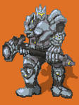 Reinhardt (Overwatch Fanart) (Quick Pixel)